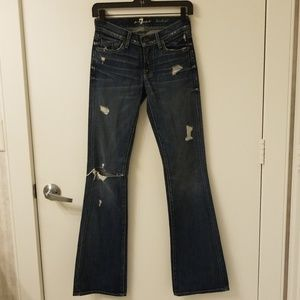 7 For All Mankind bootcut destroyed jeans 23